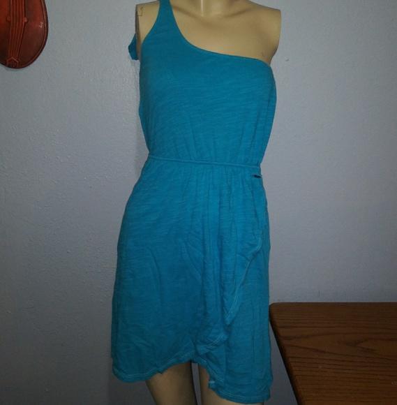 Roxy Dresses & Skirts - Roxy One Shoulder Blue Dress